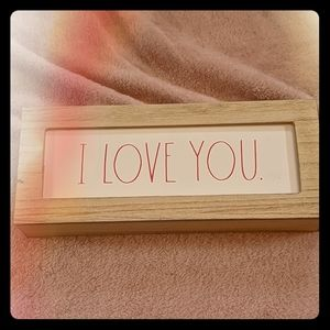 NWT Rae Dunn I Love You Sign